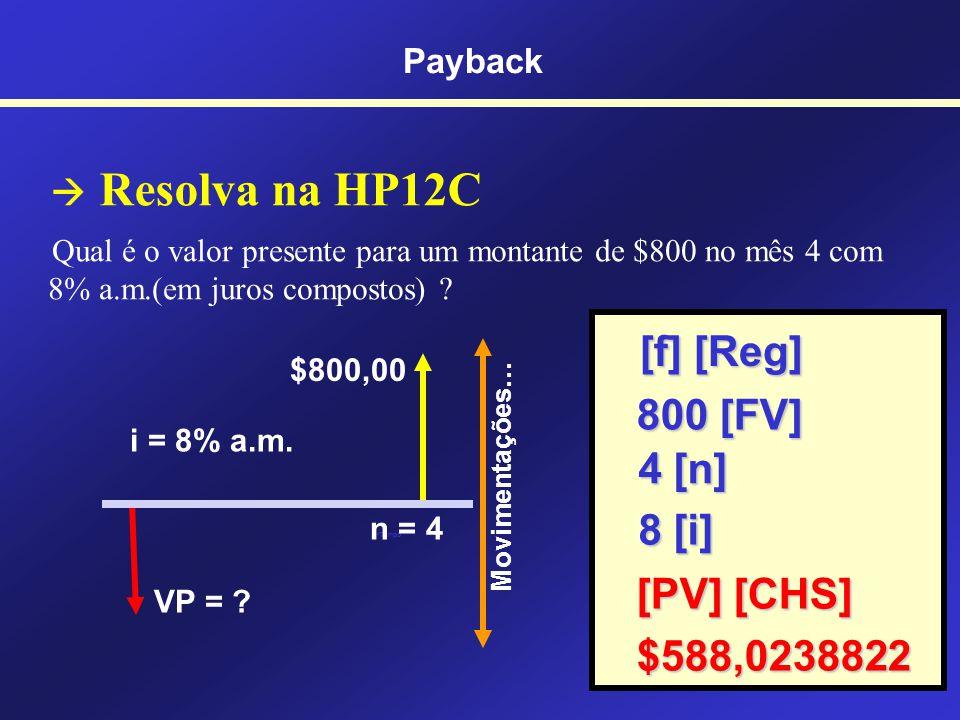 [f] [Reg] 800 [FV] 4 [n] 8 [i] [PV] [CHS] $588,0238822